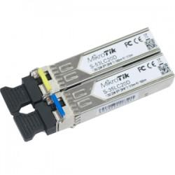 MikroTik - S-3553LC20D - Pair of SFP Modules, S-35LC20D (1.25G SM 20km T1310nm/R1550nm) + S-53LC20D (1.25G SM 20km T1550nm/R1310nm)