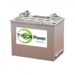 Tycon Power Systems - TPBAT6-180 - Tycon Power 6V 180Ah Gel Sealed Lead Acid Battery with 5/16 Stud and SAE Post. 10x7x11
