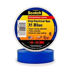 3M - 3ME1002 - x 66ft Scotch Vinyl Color Coding Electrical Tape 35 (Blue)