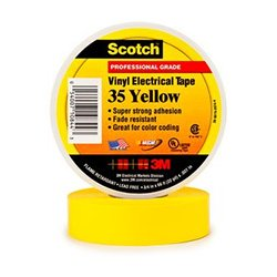 3M - 3ME1007 - x 66ft Scotch Vinyl Color Coding Electrical Tape 35 (Yellow)