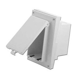 Arlington Industries - ARL1000 - DBVR141W Weatherproof IN BOX Siding Profile Adapter Plate (white)