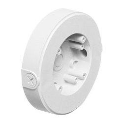 Arlington Industries - ARL8161TR - 8161TR Security Camera Mounting Box wThreaded Openings Wall or Ceiling Mount (White)