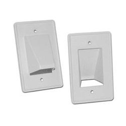 Arlington Industries - ARLCE1 - CE1 Reversible Low-Voltage Single Gang Entrance Plate (White)