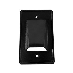 Arlington Industries - ARLCE1BL - CE1BL Reversible Low-Voltage Single Gang Entrance Plate (Black)