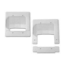 Arlington Industries - ARLCER2 - CER2 Reversible Low-Voltage Cable Entrance Plate with Detachable Bottom Double Gang
