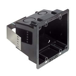 Arlington Industries - ARLFSR404BL - Double Gang Non-Metallic Box 4 x 4in. (Black)