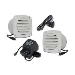 Cool Components - COOL2014 - Cool Components PK-CV1-WHT Cabinet Vent Fan Package w Power Supply (White)