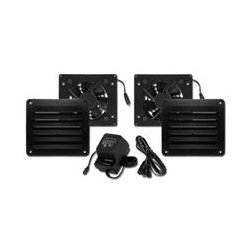 Cool Components - COOL2015 - Cool Components PK-HFL-BLK HiFLo Vent Fan Package w Power Supply (Black)
