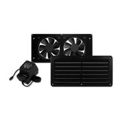 Cool Components - COOL2021 - Cool Components VS-HFB-BLK HiFlo Basic Ventilation System w Power Supply (Black)