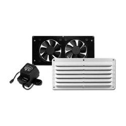 Cool Components - COOL2022 - Cool Components VS-HFB-WHT HiFlo Basic Ventilation System w Power Supply (White)