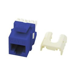 On-Q / LeGrand - LGR1049 - WP3476-BE Cat6 Quick Connect RJ45 Keystone Jack (Blue)