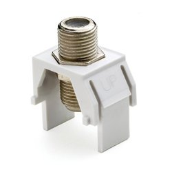 On-Q / LeGrand - LGR1057 - WP3479-WH-10 Non-Recessed Nickel F Connector (White 10 Pack)