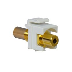 On-Q / LeGrand - LGR1062 - WP1215-WH 3.5mm Keystone Coupler Jack