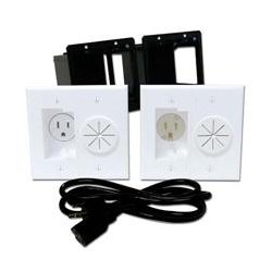 Midlite - MID2012 - A2GESR-W PowerPort Kit HDTV Power Solution w 6ft. Cord (White)