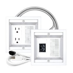 Midlite - MID2028W - 22APJW-7R-MC Power Jumper Commercial Grade All-in-One Power Relocation Kit Metal Clad Cabling (White)