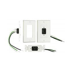 Metra Home Theater - MTH1080 - Metra Home Theater IECWP IEC Wall Plate with Pigtail (White)