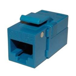 Platinum Tools - PLA1016 - 705BL-1 EZ-SnapJack for Cat5e Keystone Jack Blue (each)
