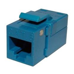 Platinum Tools - PLA1019 - 706BL-1 EZ-SnapJack for Cat6 Keystone Jack Blue (each)
