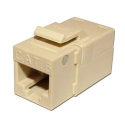 Platinum Tools - PLA1021 - 706IV-1 EZ-SnapJack for Cat6 Keystone Jack Ivory (each)