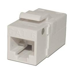 Platinum Tools - PLA1022 - 706WH-1 EZ-SnapJack for Cat6 Keystone Jack White (each)