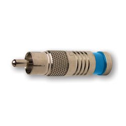 Platinum Tools - PLA2006 - RCA Connector for RG6 Quad (bag of 25)