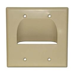 SkyWalker - SKY05065AD - Signature Series Inverted Dual Gang Bundled Wall Plate Almond