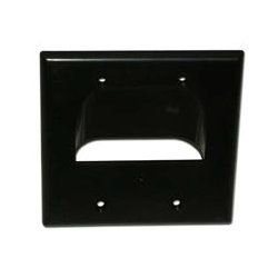 SkyWalker - SKY05065BD - Signature Series Inverted Dual Gang Bundled Wall Plate Black
