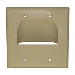 SkyWalker - SKY05065ID - Signature Series Inverted Dual Gang Bundled Wall Plate Ivory
