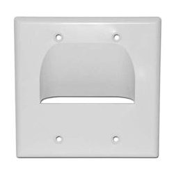 SkyWalker - SKY05065WD - Signature Series Inverted Dual Gang Bundled Wall Plate White