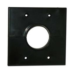 SkyWalker - SKY05066BD - Signature Series Split Dual Gang Wall Plate with 1.5 inch hole black