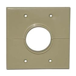 SkyWalker - SKY05066ID - Signature Series Split Dual Gang Wall Plate with 1.5 inch hole ivory