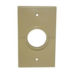 SkyWalker - SKY05066IS - Signature Series Split Single Gang Plate with 1.375in hole ivory