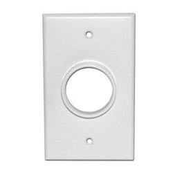 SkyWalker - SKY05078WS - Signature Series Single Gang Wall Plate with 1-38in opening white
