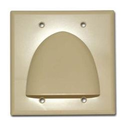 SkyWalker - SKY05087AD - Signature Series Double Gang Bundled Cable Wall Plate (Almond)