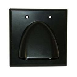 SkyWalker - SKY05087BD - Signature Series Double Gang Bundled Cable Wall Plate (Black)