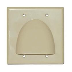SkyWalker - SKY05087ID - Signature Series Double Gang Bundled Cable Wall Plate (Ivory)