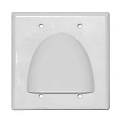 SkyWalker - SKY05087WD - Signature Series Double Gang Bundled Cable Wall Plate (White)