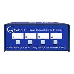 ARX America - QS-1 - ARX QS-1 Quad Channel 4x1 or 1x4 Stereo Audio Switcher Q-Switch