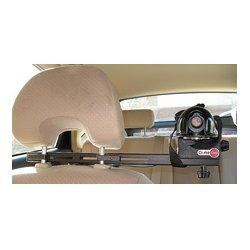 CruiseCam - 9006006 LARGE - Dual Headrest Mounted CruiseCam In-Car Camera Mount Black