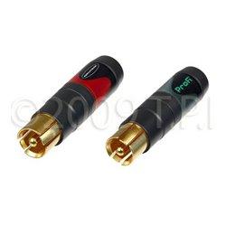 Neutrik - NF2CB/2 - Neutrik NF2C-B/2 Pair of professional Phono Plug (RCA- or CINCH-type)
