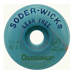 Chemtronics - 40-3-5 - Lead-Free Solder-Wick Desoldering Braid - Size No.3 0.080In x 5Ft