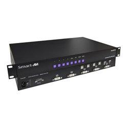 Smart AVI - SM-QKVM-S - SmartAVI Quadruple View KVM Switch - 4 Computer(s) - 1 Local User(s) - 1920 x 1200 - 6 x USB - 5 x DVI