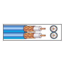 West Penn Wire - 252825BL1000 - West Penn 252825 Siamese Dual Coax Plenum S-Video Cable 1000ft Roll