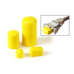 TecNec - BNC - 100pk of Yellow Plastic Caps for Male Connectors