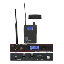 Galaxy Audio - AS-1100 - Wireless Personal Monitor 120 Selectable Channels Code N: 518-542 MHZ w/ EB4 Ear Buds