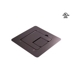 Mystery Electronics - FMCA1200 - Mystery Flat Trim Satin Black Floor Box with Cable Door