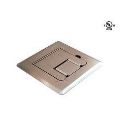 Mystery Electronics - FMCA1800 - Mystery Stainless Steel Self Trimming Floor Box with Cable Door