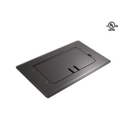 Mystery Electronics - FMCA2000 - Mystery Self Trimming Satin Black Floor Box with Cable Slots
