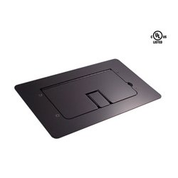 Mystery Electronics - FMCA2200 - Mystery Flat Trim Satin Black Floor Box with Cable Door