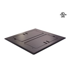 Mystery Electronics - FMCA3000 - Mystery Self Trimming Satin Black Floor Box with Cable Slots